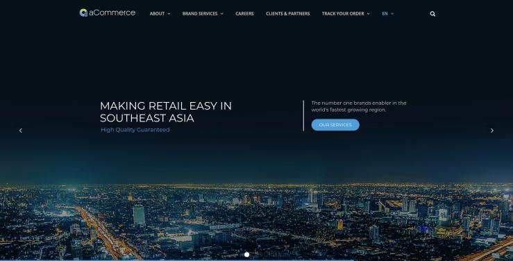 aCommerce-website
